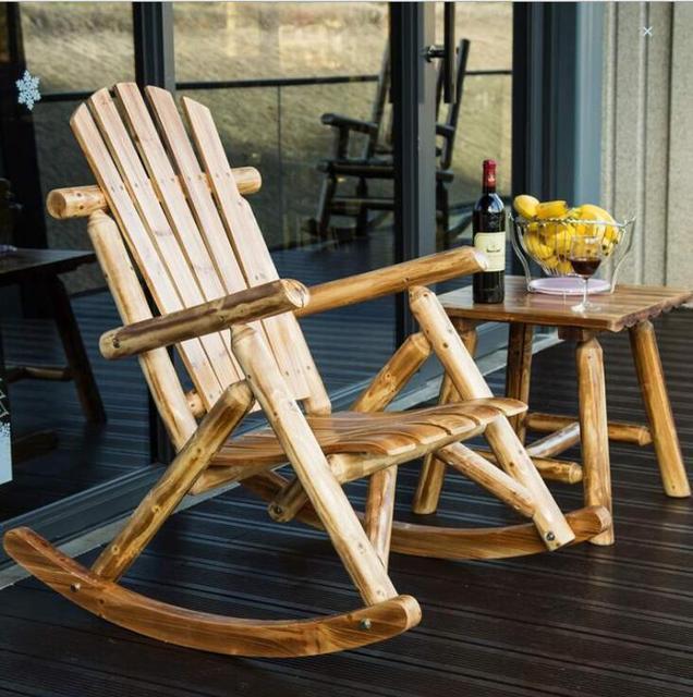 Outdoor  Wooden Rocking Chair  4