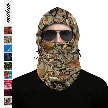 Winter Outdoor Thermal Warm 6 In 1 Balaclava Hood Police Swat Skiing Cap Cycling Fleece Ski Bike Scarf Wind Stopper Mask Hats