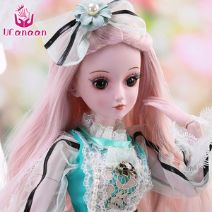 Image 4 - UCanaan 23.6 BJD SD Doll 19 Ball Joints Dolls with Clothes Outfit Shoes Wig Hair Makeup for Girls
