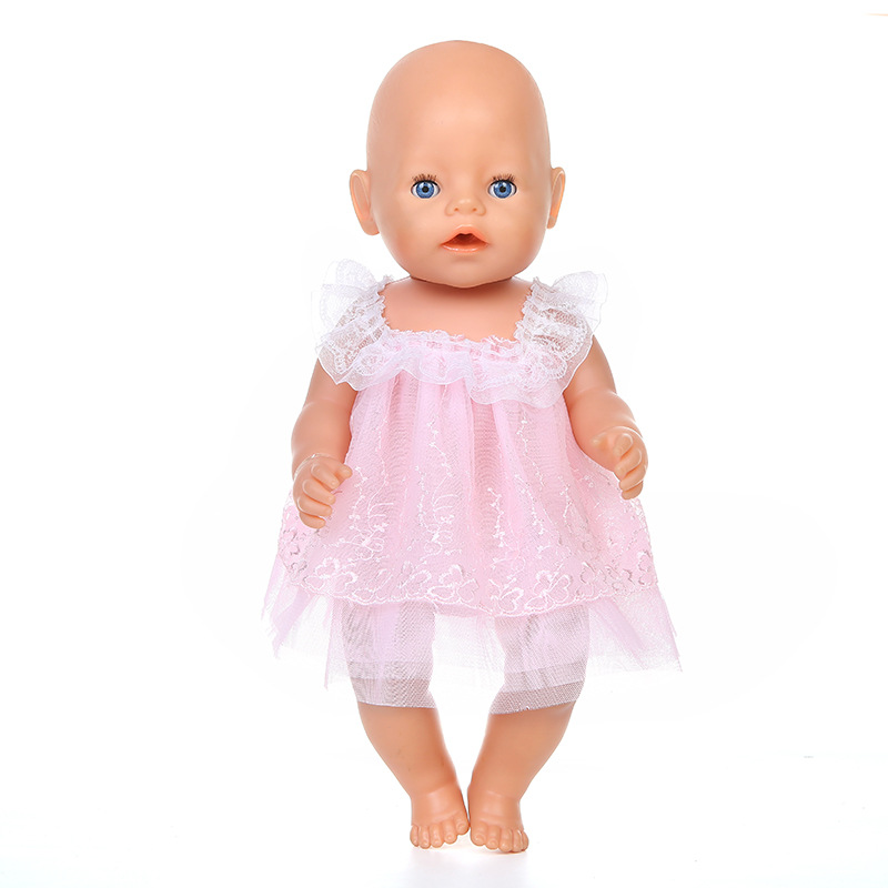 New 4 Style Lace Dress For 43cm Baby Doll , Children Best Birthday Gift(only Sell Clothes)