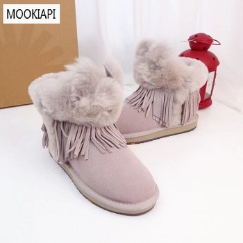 Australia's top quality children's snow boots in 2019, real sheepskin, natural wool, the latest children's shoes, three colors