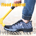 Sapatos masculinos tênis de corrida ao ar livre para homem respirável de proteção de aço toe cap sapatos de segurança masculino sapatos esportivos tamanho grande 35-48