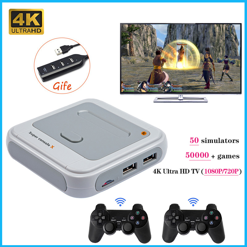 Video-Game-Player Emulators Games TV 50000 Super-Console-X-S905m Mini Output for N64/DC