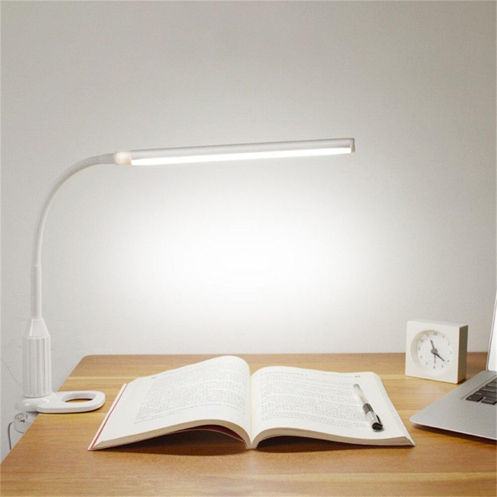 500LM göz koruması LED masa lambası anahtarı dokunmatik masa lambası kademesiz kısılabilir bükülebilir için USB çalışması okuma