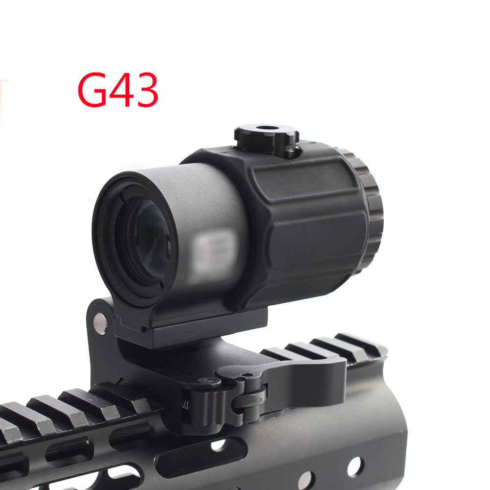 Magorui Tactical G43 3x Magnifier Scope Sight with Switch to Side STS QD Mount Fit for 20mm rail Rifle Gun Hunting accessories