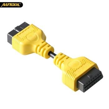 AUTOO OBD Extension Cable Connector OBDII Extend Wire Connector Scanner OBD2 14CM Diagnostic Adapter Male to Female Wire for Car цена 2017