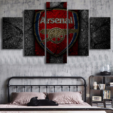 5 Pieces Premier League Arsenal Posters Football Canvas Paintings Sports Soccer Prints Wall Art Kids Room Home Decor