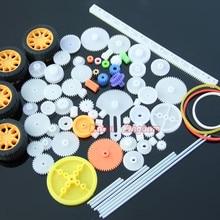 Toy Plastic-Gear Hobby 4-Wheels of for DIY Car-Model 78pcs-Parts Bushings Axle-Belt A-Set