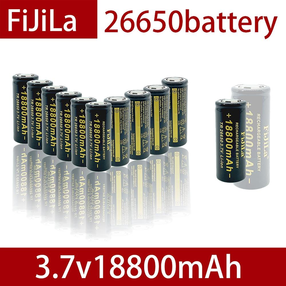 2021100% Новый 3,7 V 26650 Батарея 18800 мА/ч, литий-ионный аккумулятор Перезаряжаемые Батарея для светодиодный фонарик Фонарь Li-Ion Батарея аккумулятор...