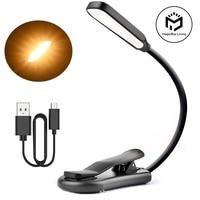 Wiederaufladbare Buch Licht 7 LED Lesen Licht mit 3-Ebene Warmen Cool White Tageslicht Flexible Einfach Clip Nacht Lesen lampe in Bett