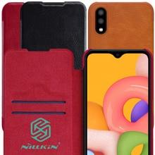 Nillkin צ ין ספר Flip עור Case כיסוי עבור Samsung Galaxy A01