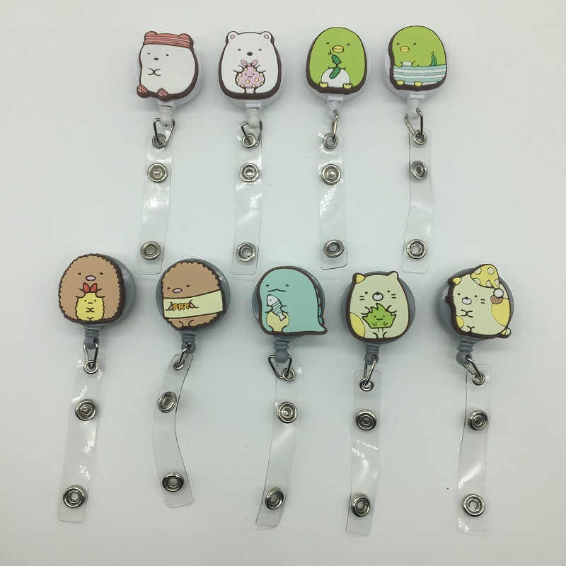 Cartoon Retractable Pull Badge Reel Student Nurse ID Lanyard Name Tag Card Badge Holder Reels For Kids Card Holder Badge Reel