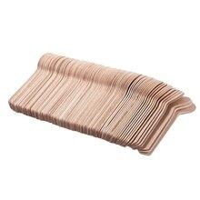 100 шт одноразовая деревянная ложка мини-ложка для мороженого деревянная Западная десертная ложка для свадебной вечеринки столовые приборы кухонные принадлежности