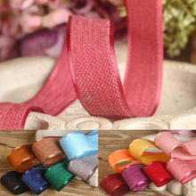 100yards 10 16 20 25 38 50mm chenille korean ribbon for hair bow diy accessories craft supplies bouquet flower packing