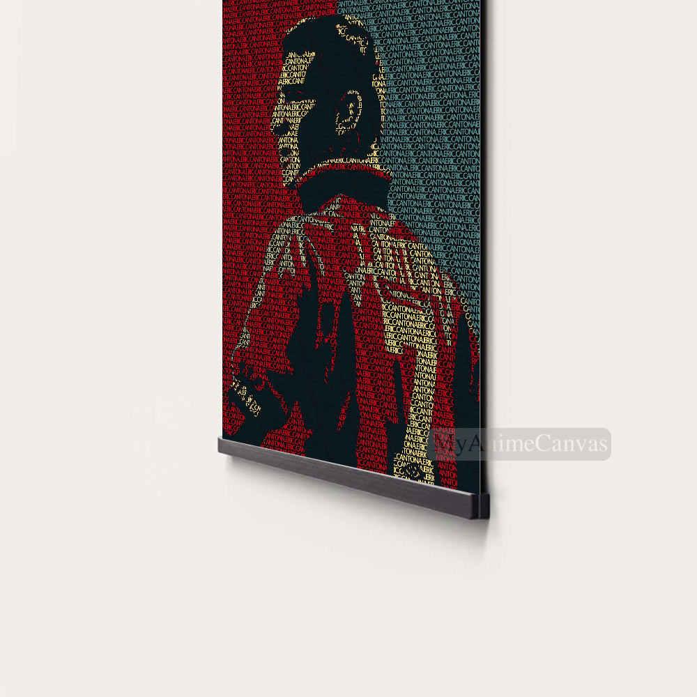 Eric Cantona Texte Art Cadre En Bois Toile Decoration Imprime Pour Enfants Salon Magnetique Encadre Decor A La Maison Peinture Aliexpress