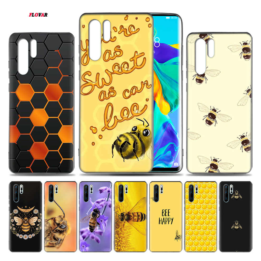 Golden Honeycomb Honey Bee TPU Soft Phone Case For Huawei P20 P30 P9 P10 Mate 10 20 30 Lite Pro P Smart Plus Z 2019 2017 Cover S