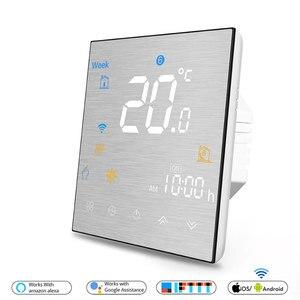 Image 5 - Wifi termostato inteligente temperatura controle remoto/voz controlador para água/piso elétrico aquecimento água/caldeira a gás alexa tuya