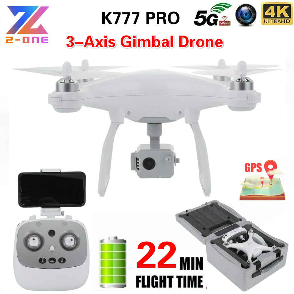 K777 PRO 3 Axis Gimbal Drone 4k With Camera HD Quadrocopter GPS 5G WiFi Professional Brushless 1KM 22mins Drones Dron VS X35