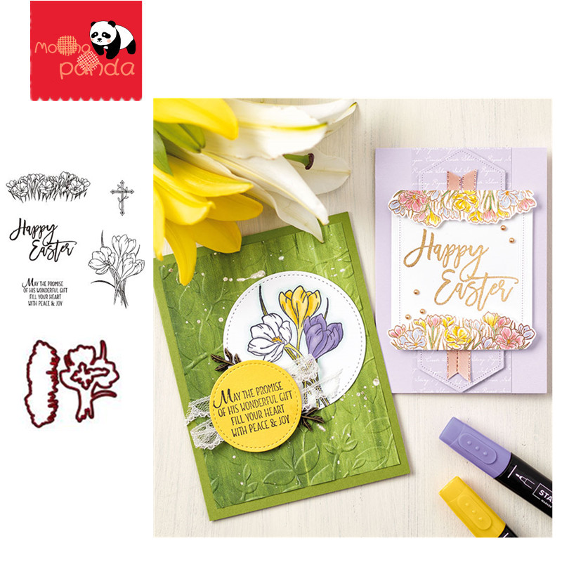 MP072 EASTER PROMISE Metal Cutting Dies And Stamps Stencils For DIY Scrapbooking Stamping Die Cuts Paper Cards Craft