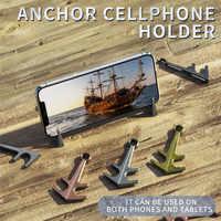 Przenośny uchwyt na tablet lub telefon stojak uniwersalny pulpit stop magnes metalowy kotwica telefon stojak uchwyt na iPhone Samsung Huawei