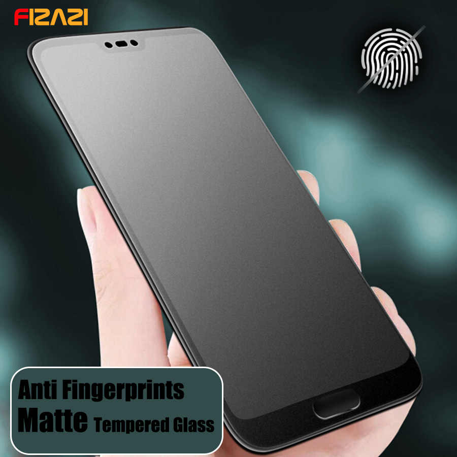 No Fingerprint Matte Frosted Tempered Glass for Huawei Nova 5 3 3i Honor View 20 P20 Pro P30 Lite P Smart Plus Screen Protector