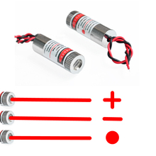 650nm 5mW Red Point / Line / Cross Laser Module Head Glass Lens Focusable Industrial Class