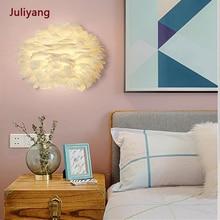 Feather wall lamp modern bedside bedroom lamp aisle living room creative warm romantic art light fixtures AC85-265V 18w