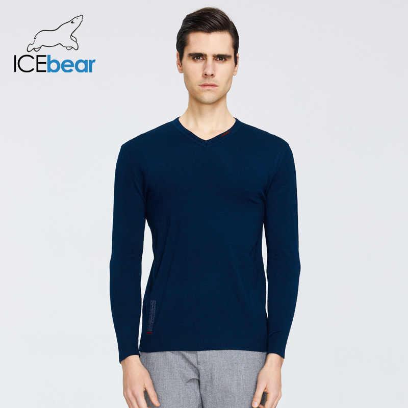 ICEbear 봄 2020 새로운 남성 스웨터 패션 라운드 목 스웨터 브랜드 의류 1901