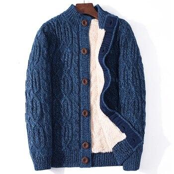 ICPANS Winter Cardigan Male Thicken Warm Wool Cashmere Winter Sweater Men Clothing 2019 New Outwear Plus Size 4XL 5XL 6XL 7XL