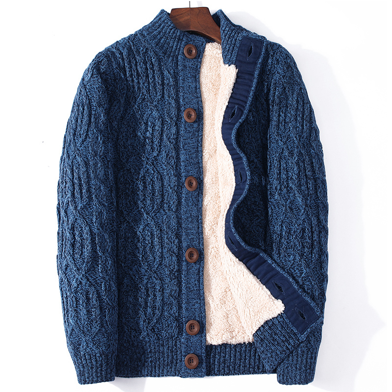 ICPANS Winter Cardigan Male Thicken Warm Wool Cashmere Winter Sweater <font><b>Men</b></font> <font><b>Clothing</b></font> 2019 New Outwear <font><b>Plus</b></font> <font><b>Size</b></font> 4XL 5XL <font><b>6XL</b></font> 7XL image