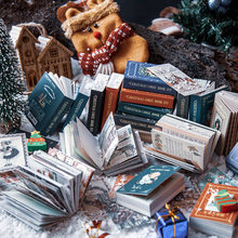 100 folhas almofadas de memorando notas pegajosas feliz natal retro papel diário scrapbooking adesivos diário escola papelaria bloco de notas