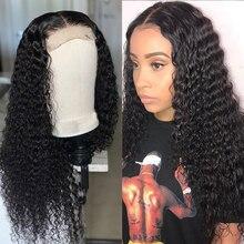 Brazil 180% Density Brazilian 4x4  Loose Deep Lace Closure Wig Hair 8-22 Inch Long Wavy Closure Lace Wigs For Black Women