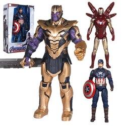 Фигурка супергероя Marvel «мстители», оригинальная экшн-фигурка 14 дюймов, танос, Железный человек, подвижные суставы, Капитан Америка, кукла