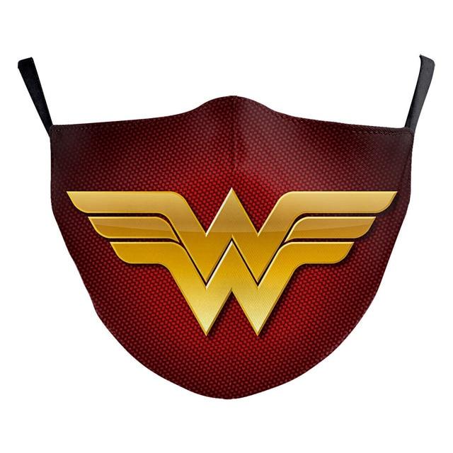 Superhero The Flash Thanos Iron Man Wonder Woman Cosplay Face Mask Dustproof Adult Kids Masks 3