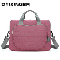 New 12 Inch Laptop Bag 2020 Handbag For Men Women Messenger Notebook Briefcase Lady Solid Flap Bags For Macbook Pro Air Dell HP