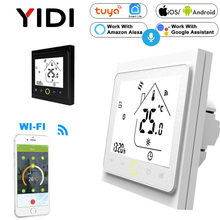 цена на WIFI Smart Touch Thermostat Water Heating Electirc Floor Heating Water Gas Boiler Temperature Controller Alexa Google Home