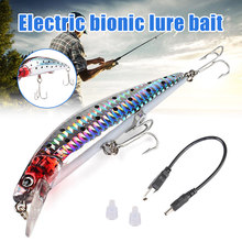 Moda super vida-como vibração isca de pesca elétrica com usb recarregável e luz led para a noite do2