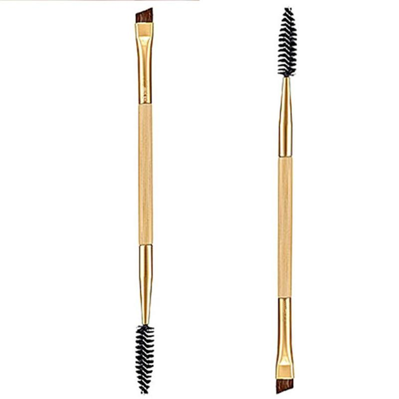 1PC Brushes Cosmetics Double Head Eyebrow Brush Eyeliner Eyelash Comb Lip Makeup Brush Portbale Long Lasting Women Cosmetic Tool