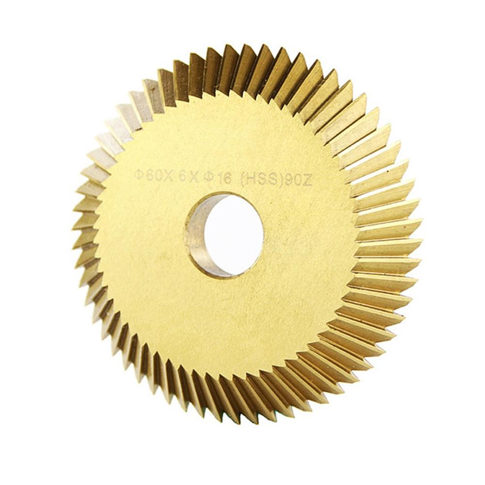1pcs HSS 60x7.3x12.7x60T Key Cutting Machine Blade For Duplication Key Machine Milling Cutter Key Cutting Blade Locksmith Tool