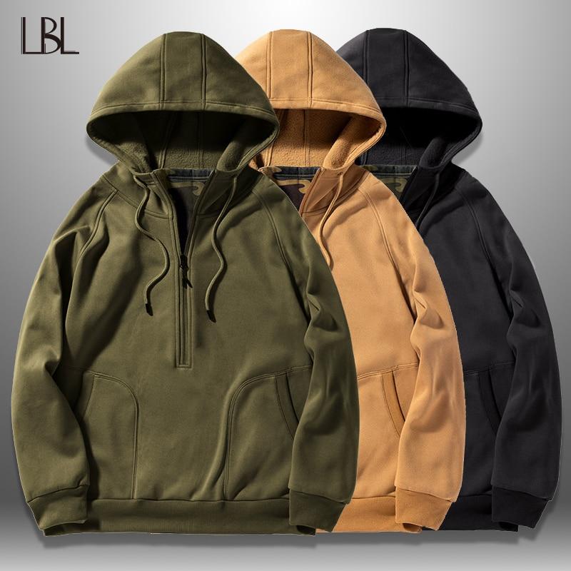 New Men's Hoodies 2019 Autumn Winter Casual Mens Hooded Sweatshirts Hip Hop Solid Color Hoodie Sweatshirt Tops Male Tracksuits