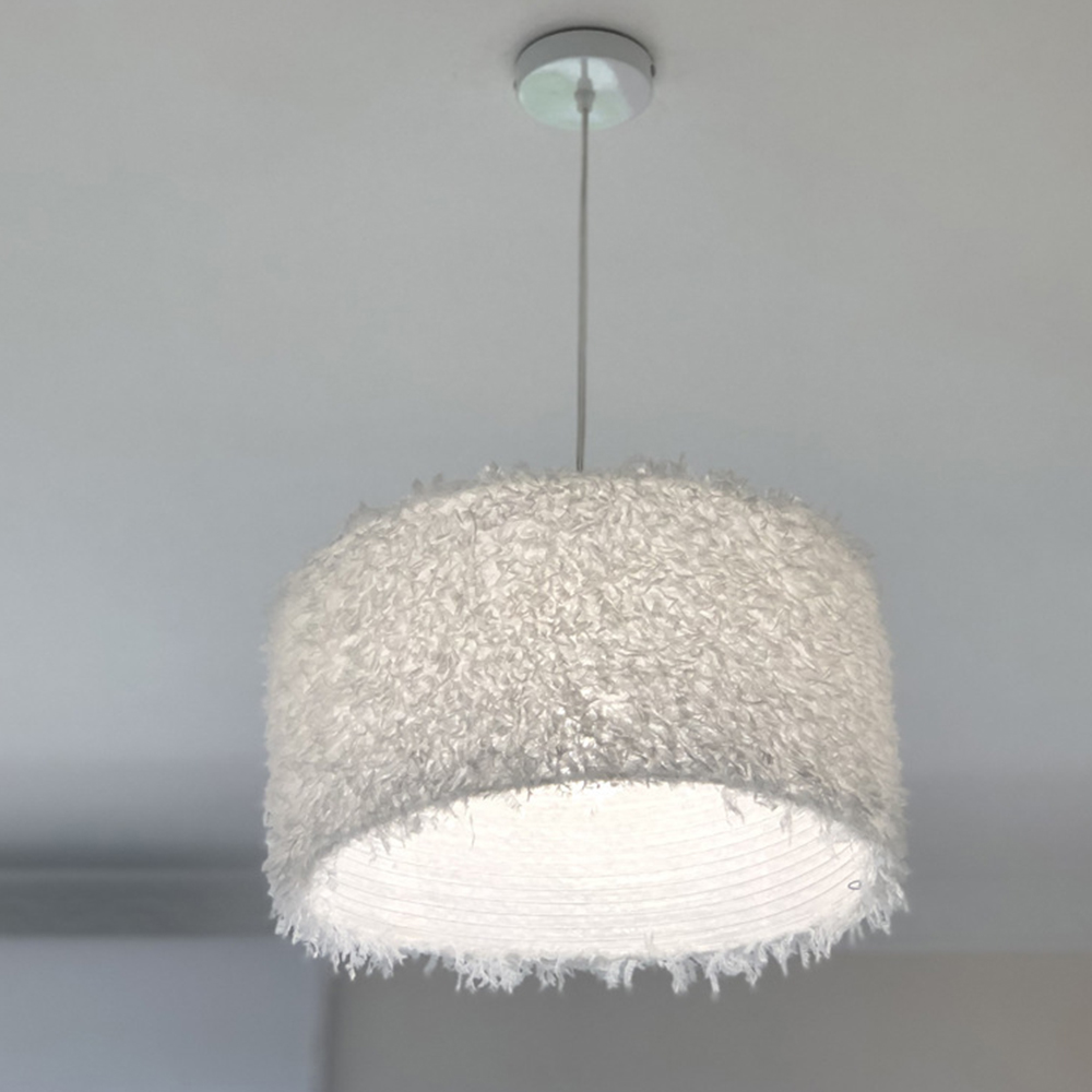 Image 4 - Durable Feather Ceiling Light Modern Hanging Lamp for Bedroom/Living Room/Bathroom Chandelier 4 Types Style Ceiling LampPendant Lights   -