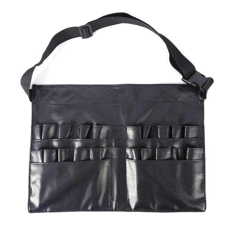 Professional Makeup Bag Cosmetic Bushes Case Holder PU Waist Belt Pouch Apron Portable Waist Bag Artists Barber Brush Organiser
