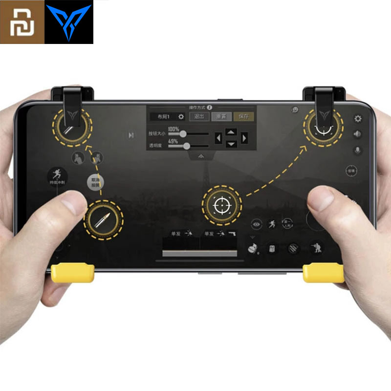 Giacca ingresso diluire  Original Youpin Flydigi Game Controller Left Right Gamepad Trigger 2  Shooter Joystick for PUBG Mobile Game for iPhone Android|Smart Remote  Control| - AliExpress