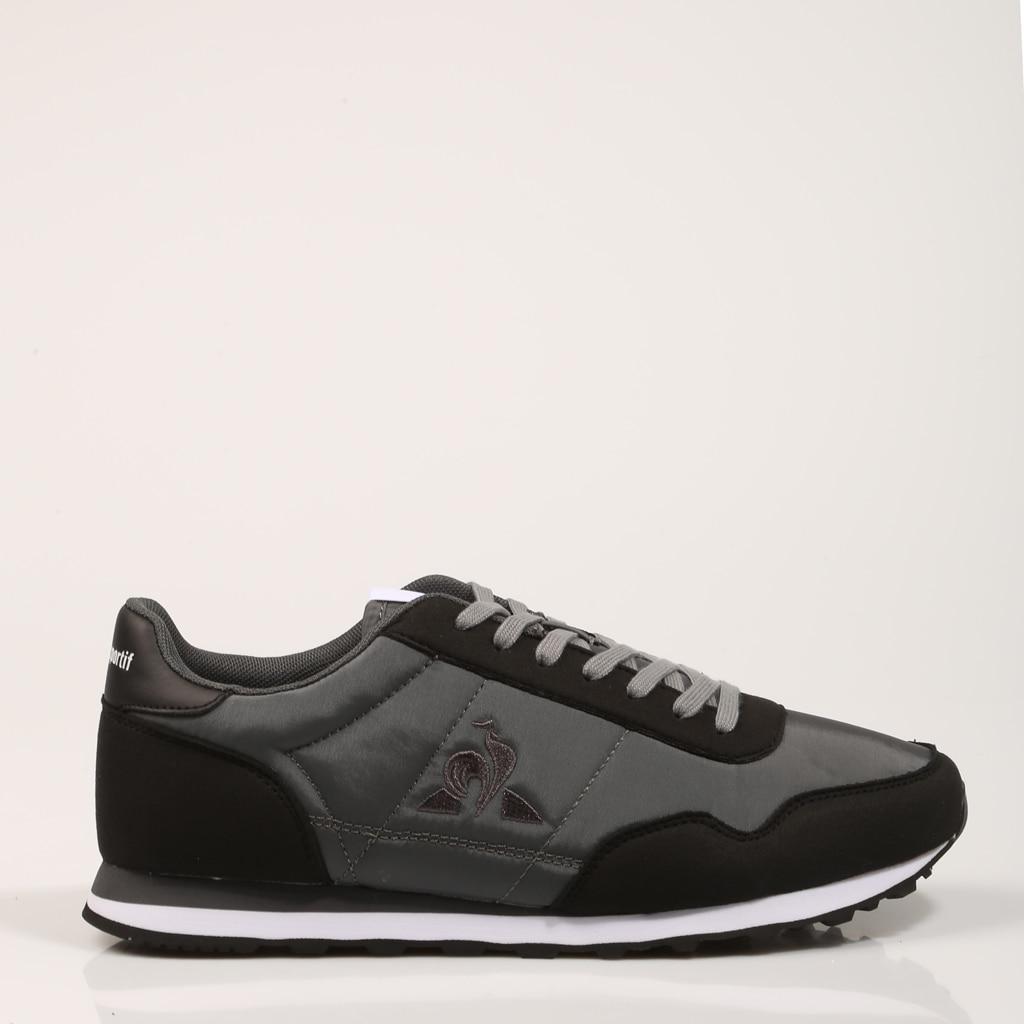 LECOQSPORTIF ZAPATILLAS ASTRA BLACK/CHARC 2020341 Negro Piel Hombre – Black SNEAKERS Man Shoes Casual Fashion 73588