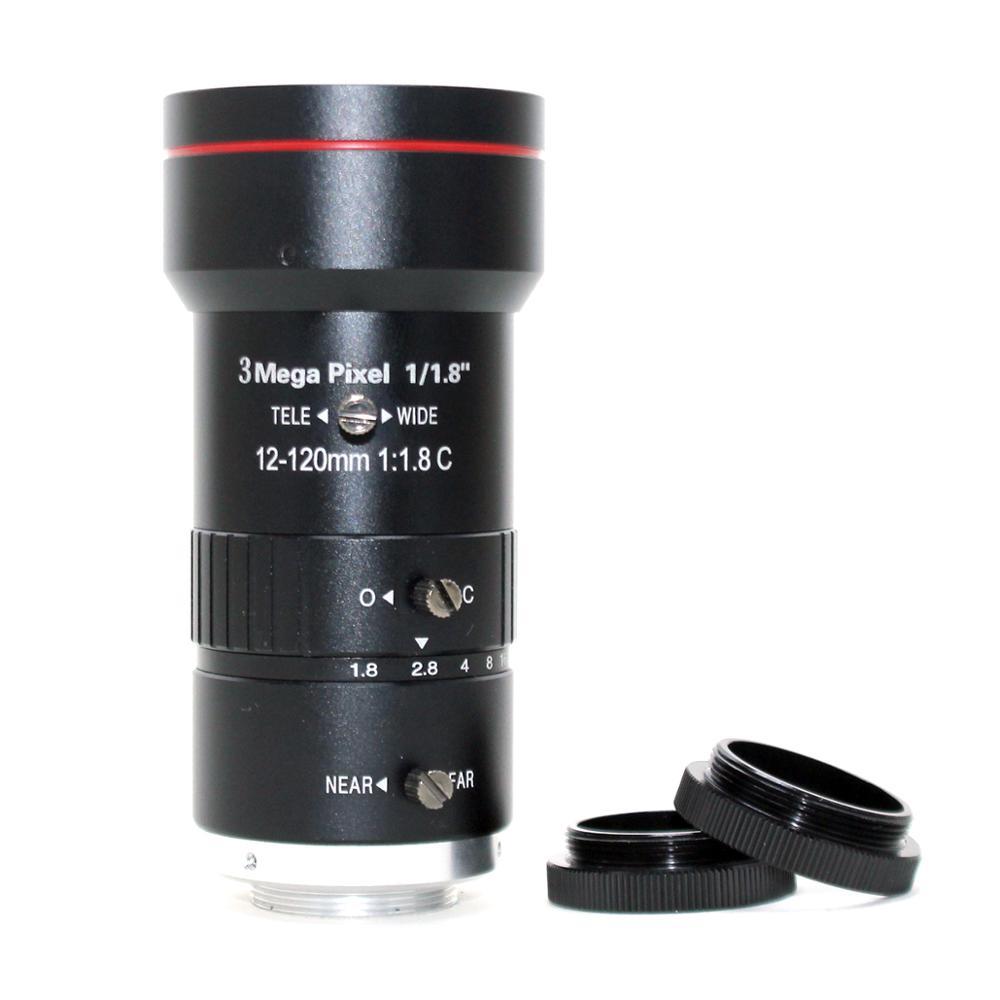 3,0 Megapixel 12 120mm HD CCTV objektiv F1.8 manuelle Iris Vario C mount objektiv Niedrigen Verzerrung FA objektiv für IP Kamera objektiv - 2