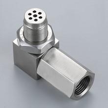 Yetaha 90 Degree Engine Light CEL Eliminator With Mini Catalytic Converter For Most M18 X 1.5 Thread O2 Oxygen Sensor Spacers