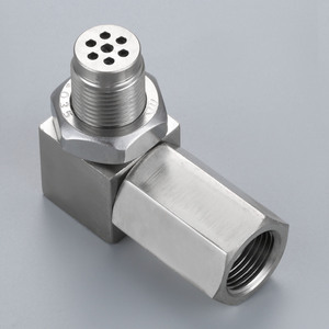 Image 1 - Yetaha 90 Degree Engine Light CEL Eliminator With Mini Catalytic Converter For Most M18 X 1.5 Thread O2 Oxygen Sensor Spacers