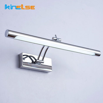 Modern LED Bathroom Wall Lamp With Switch Waterproof L40/55C Mirror Sconces Vanity Stainless Steel Wall Lights Fixture AC85-265V l40cm l60cm l70cm l90cm l110cm led wall lamp bathroom mirror light waterproof modern acrylic wall lamp bathroom lights ac85 265v