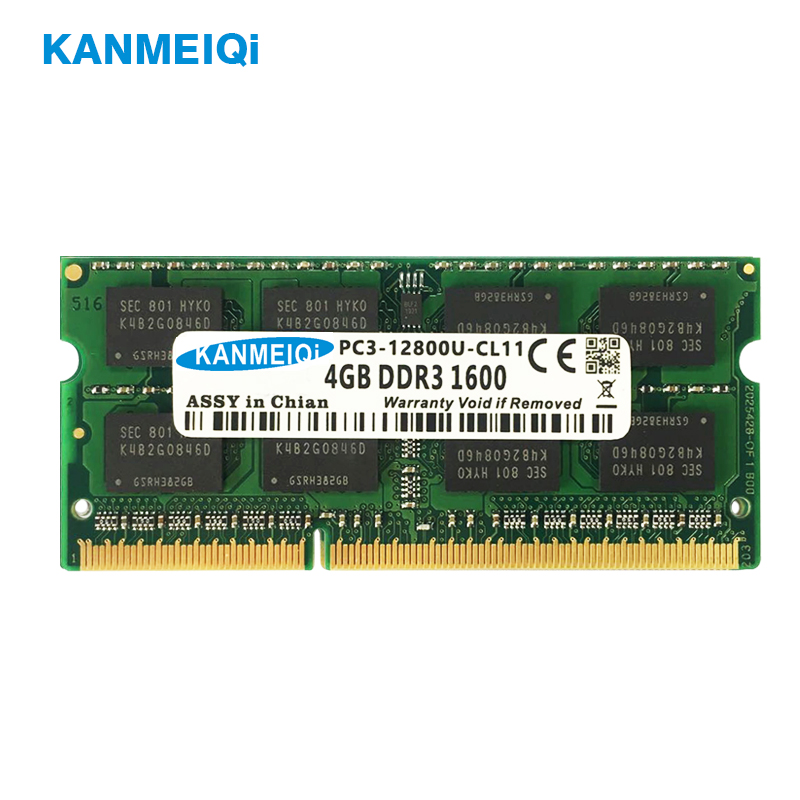 DDR3L DDR3 4GB 8GB 1333mhz 1600Mhz SO-DIMM 1.35v 1.5v Notebook Ram 204pin Laptop Memory New KANMEIQi