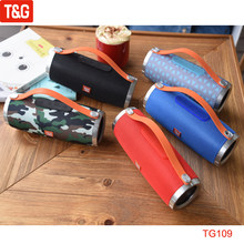 T&G TG109 Portable Speaker Fabric Wireless Bluetooth Speakers Stereo Audio Handle Loudspeaker Support FM Radio TF AUX